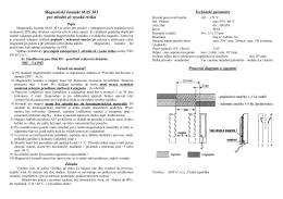 Magnetický kontakt MAS 303 pro střední až vysoká rizika