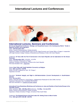 International Lectures and Conferences