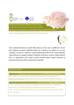 program studentské konference výkvěty 2014 23. května 2014 na