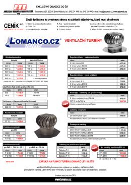 Ceník Lomanco 2014