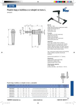 03196 Fixační čepy s kuličkou a s rukojetí ve tvaru L