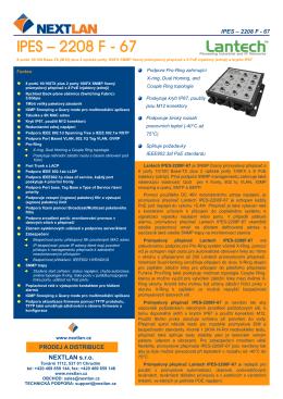 IPES-2208F-67 Datasheet (CZ, pdf)
