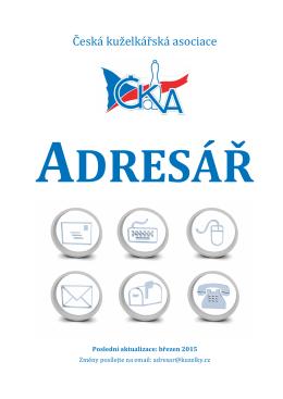 Adresáře ČKA - Česká kuželkářská asociace