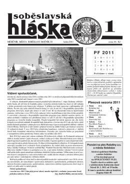 leden 2011 - Město Soběslav