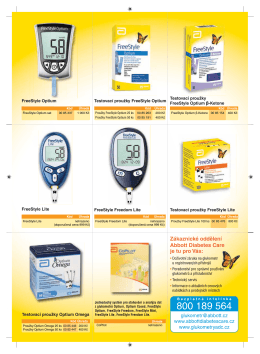 Zákaznické oddělení Abbott Diabetes Care je tu pro Vás: