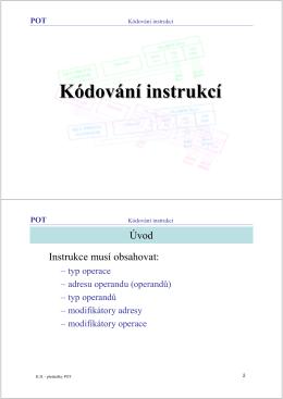 Kódování instrukcí