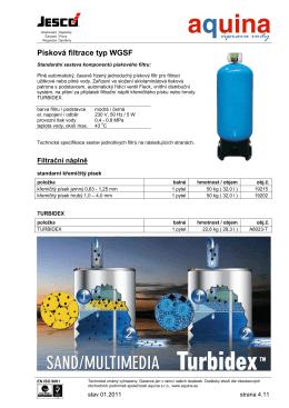 Písková filtrace typ WGSF
