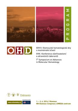 PROGRAM - OHD - Olomoucké Hematologické dny