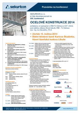 ocelové konstrukce 2014 - Česká asociace ocelových konstrukcí