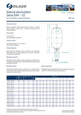 Vakový akumulátor Série EHV – CE