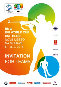 INVITATION FOR TEAMS - Nové Město na Moravě