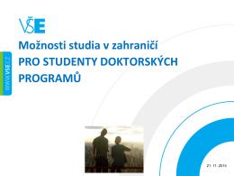 Prezentace o možnostech studia v zahraničí