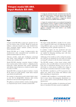 Vstupní modul BX-IM4. Input Module BX-IM4.