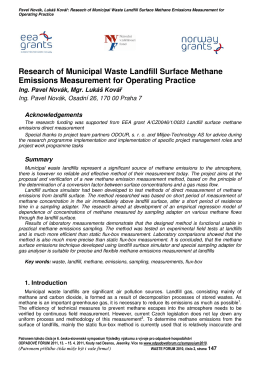 Research of Municipal Waste Landfill Surface Methane Emissions