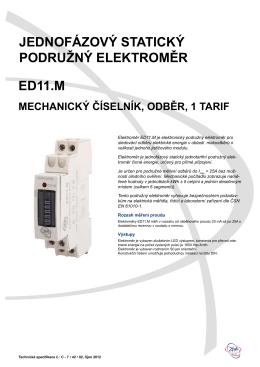 Technická specifikace ED 11
