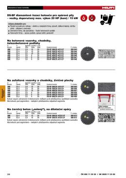 Diamantová brousicí a řezací technika