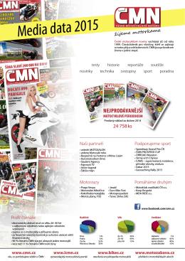 Media data 2015 - České motocyklové noviny