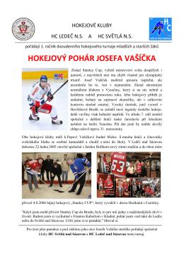 přihláška hokejový pohár josefa vašíčka