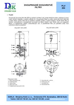 PDF-127 kB - DUKLA - Strojírny Kolín sro