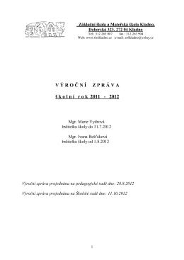 tomto dokumentu. - ZŠ a MŠ Kladno, Doberská