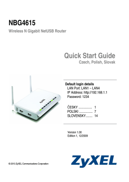 NBG4615 Quick Start Guide