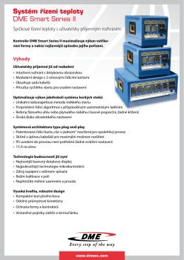 Systém řízení teploty DME Smart Series II