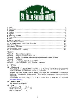 Zvláštní ustanovení - rally pravidelnosti (CZ) (pdf, 485 kB)