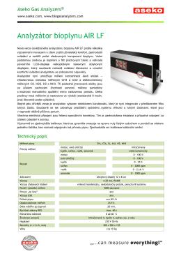 Analyzátor bioplynu AIR LF