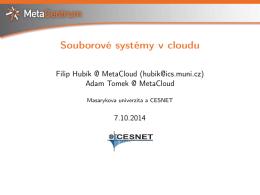 Souborové systémy v cloudu