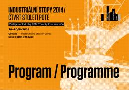 Program konference a exkurze - Výzkumné centrum průmyslového