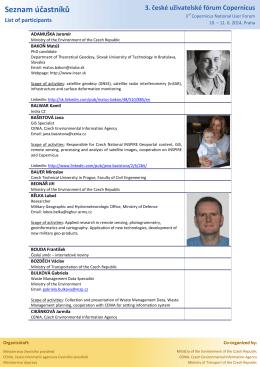 3) Seznam účastníků