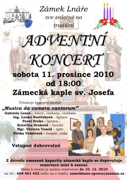 Adventní koncert 11.12.2010-plakát