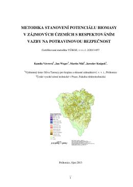 Metodika (PDF, 910 KB) - Výzkumný ústav Silva Taroucy pro krajinu