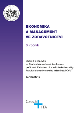 Ekonomika a management ve zdravotnictví 3. ročník