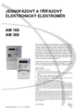 Technická specifikace AM x60