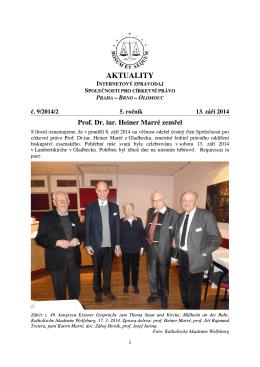 Aktuality č. 9/2014/2 - Společnost pro církevní právo