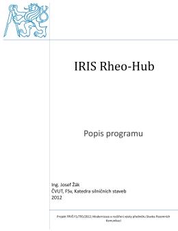 Popis programu IRIS Rheo Hub