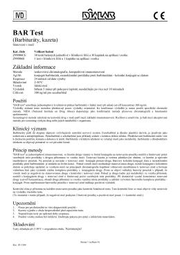 Příbalový leták - Dialab spol.s r.o.