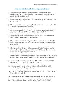 Trojúhelník (analyticky a trigonometricky)