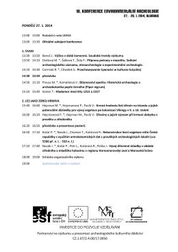 ZDE - 10. konference environmentální archeologie
