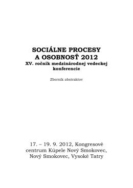 Kniha abstraktov v pdf - Ústav experimentálnej psychológie SAV