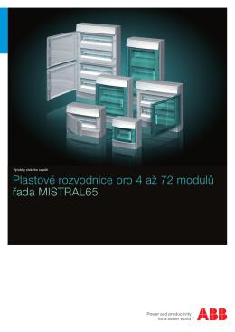 Plastové rozvodnice pro 4 až 72 modulů řada MISTRAL65