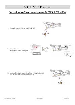 Návod na seřízení samozavírače GEZE TS 4000