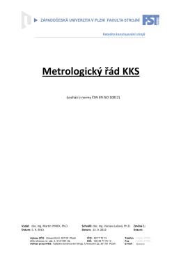 Metrologický řád KKS