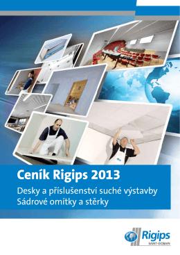 Ceník Rigips 2013