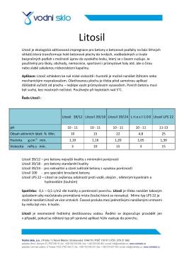 Litosil - Vodní sklo as