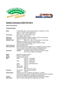 Nabídka malotraktoru ISEKI TM 3160 A