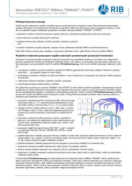 Newsletter RIBTEC RIBfem TRIMAS , PONTI