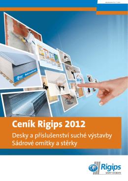 Ceník Rigips 2012