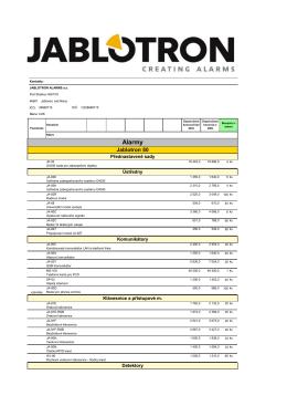 Ceník EZS / AUTOMATIZACE